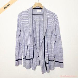 [Lou & Grey] Blue Striped Lightweight Cardigan